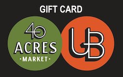 Underground Books & 40 Acres Market Gift Cards